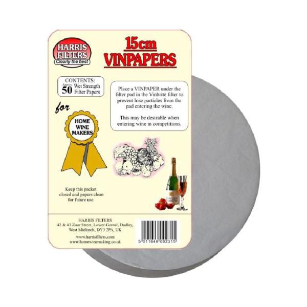Papír filtrační na víno,líh - 15 cm