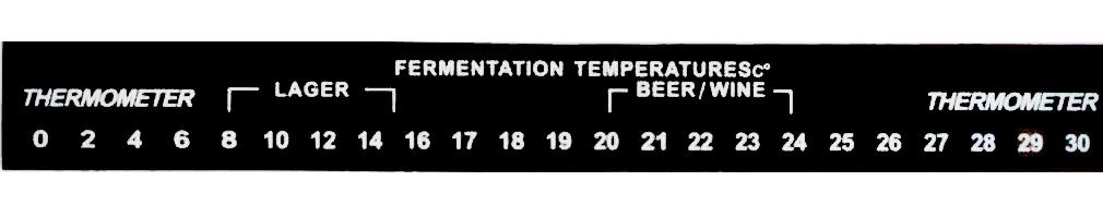 Nalepovací teploměr 0-30°C