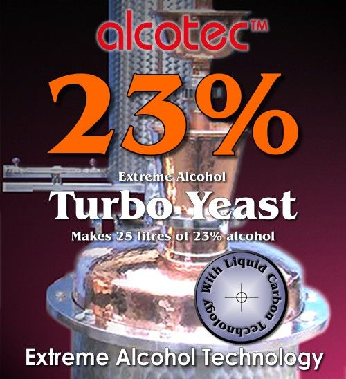 Turbokvasnice Alcotec 23% (pro cukerný kvas)