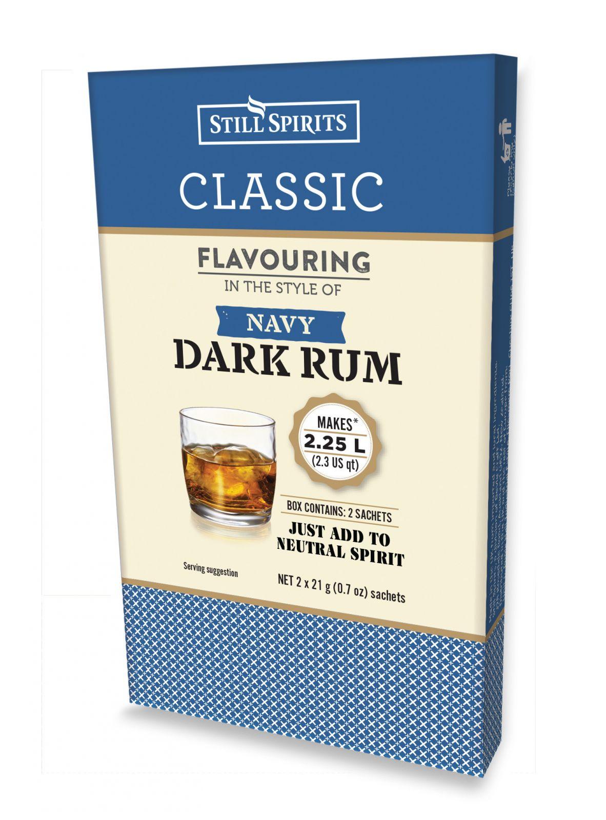 Esence-Klasický tmavý námořnícký rum - na 2,25 L