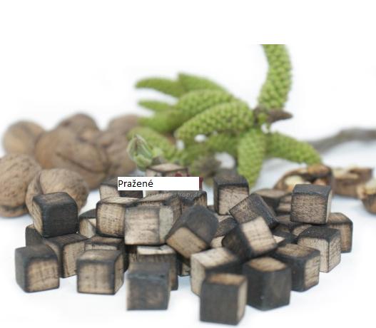Dub Francouzský - silně pražený kostky 100g